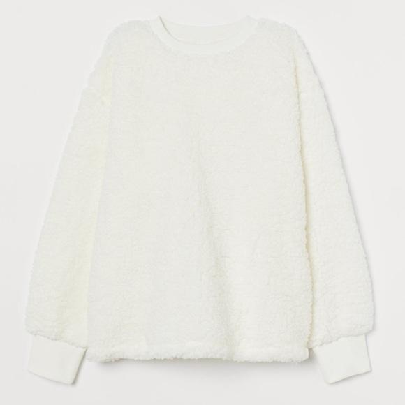 NEW H&M cozy cloud shearling Crewneck Sweater
